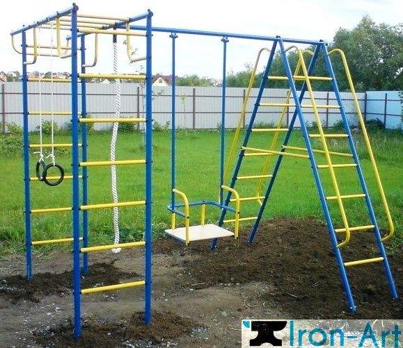 detskie metallicheskie sportivnye kompleksy dlya dachi i ulicy - Детские площадки из металла на заказ