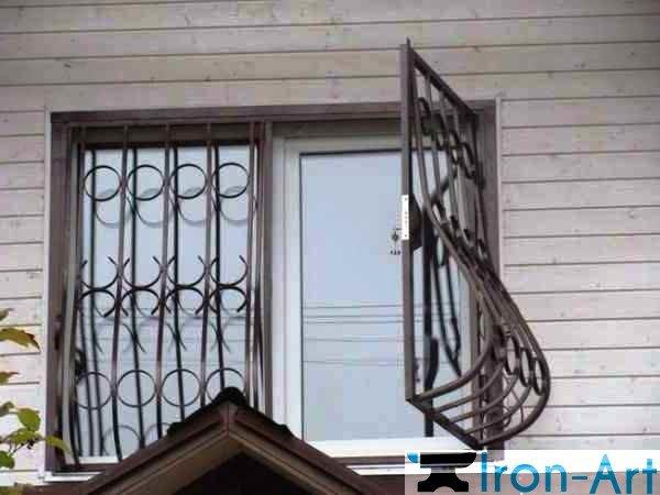 metallicheskie reshetki na okna raspaschye foto - Металлические решетки на окна