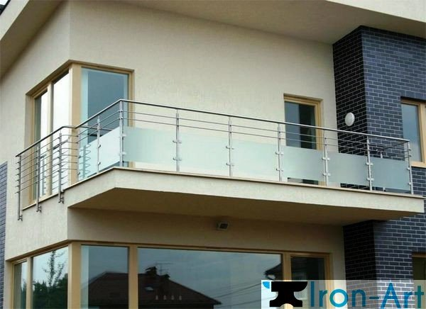 perila na balkon 10 - Металлические балконы на заказ