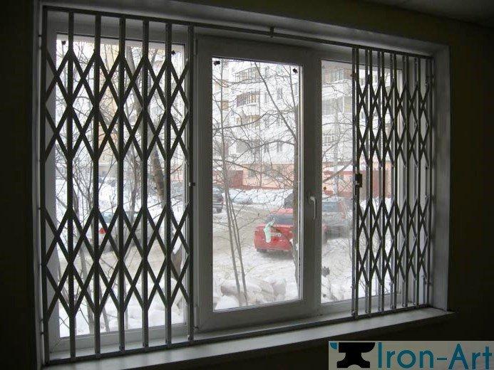 razdvizhnie reshetki3 - Металлические решетки на окна