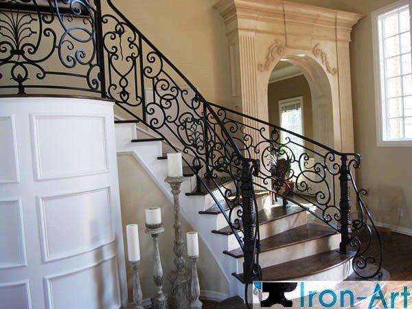 wrought iron stairs railings 3 - Ограждения из металла под заказ